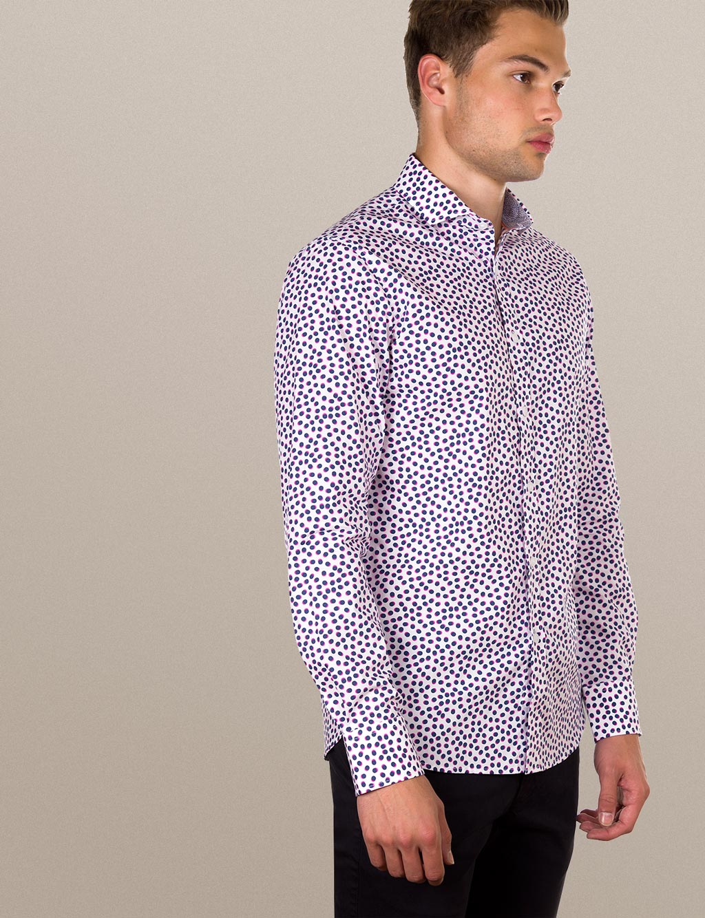 Jackson Spot Print Shirt (Slim Fit)