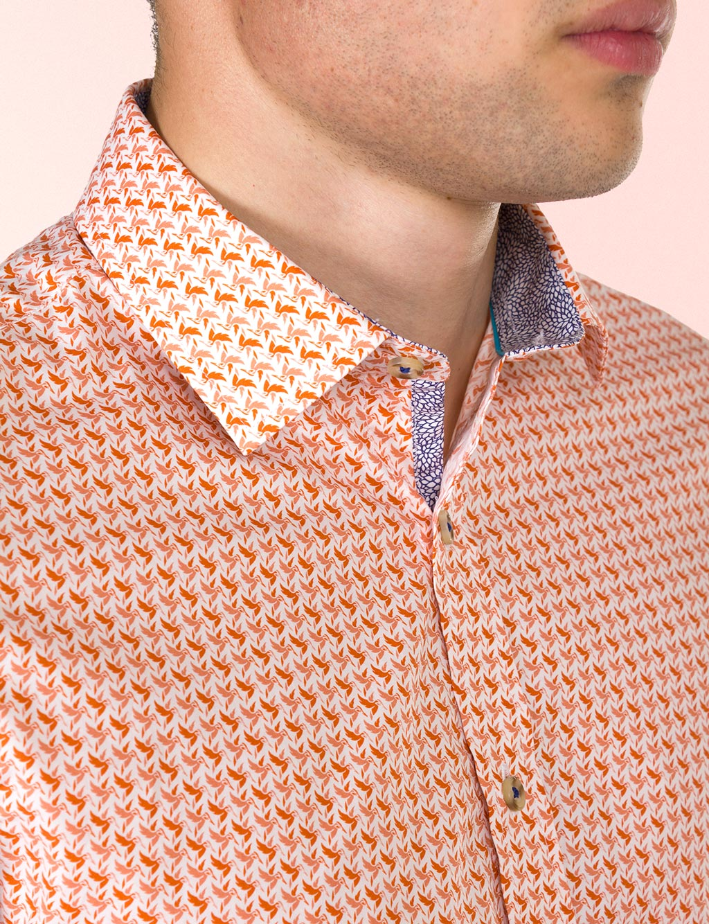 Arthurton Bird Print Shirt (Slim Fit)