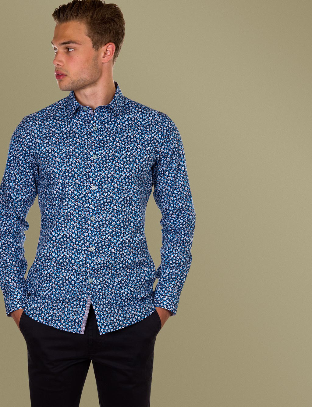 Findlay Floral Print Shirt (Slim Fit)