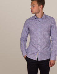 Hutton Leaf Print Shirt (Slim Fit)