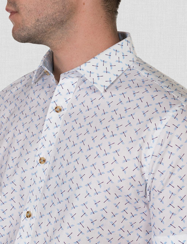 Gus Dragonfly Print Shirt (Short Sleeve)