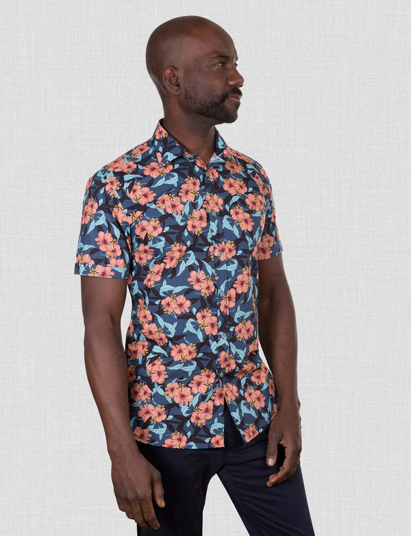 Harker Hibiscus Shirt (Short Sleeve)