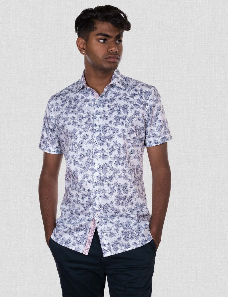 Clive Floral Print Shirt (Short Sleeve)