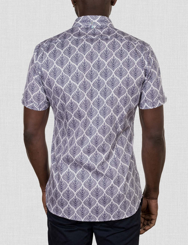 Lytton Palm Print Shirt (Short Sleeve)