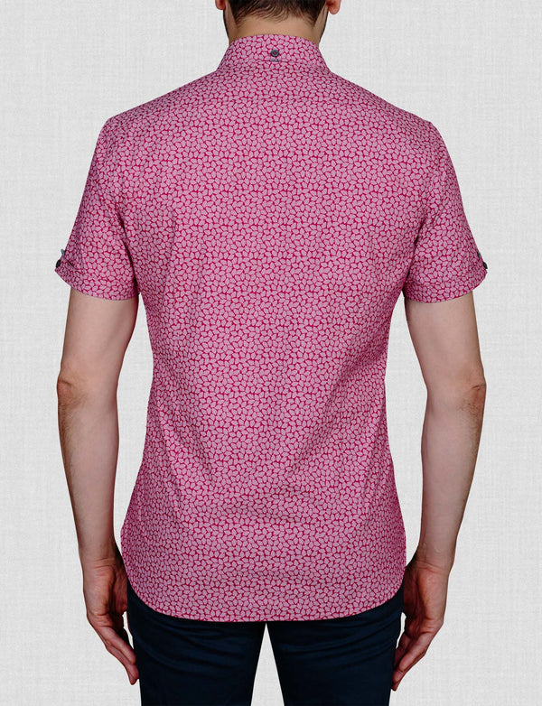 Ross Leaf Print Shirt (Short Sleeve)