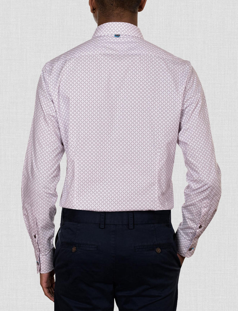 Adams Geometric Print Shirt