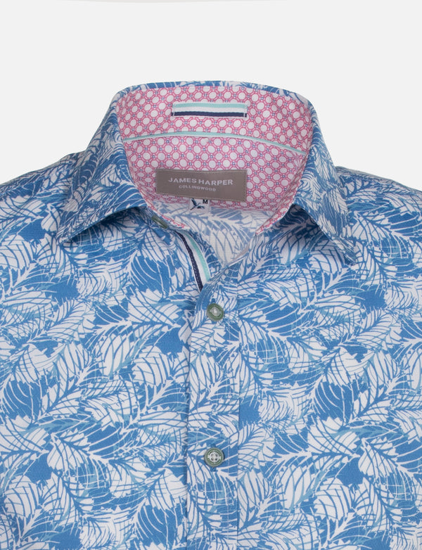Ashmore Tropical Leaf Print Shirt