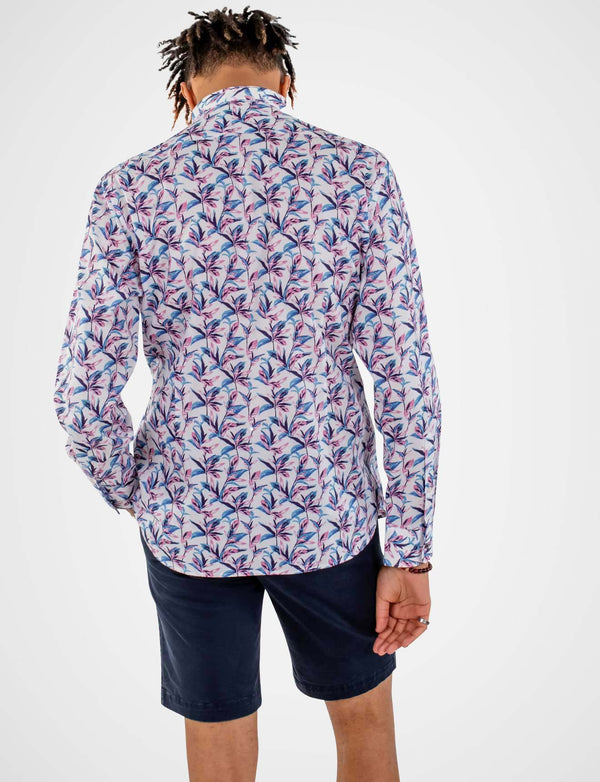 Bryant Abstract Leaves Print Shirt