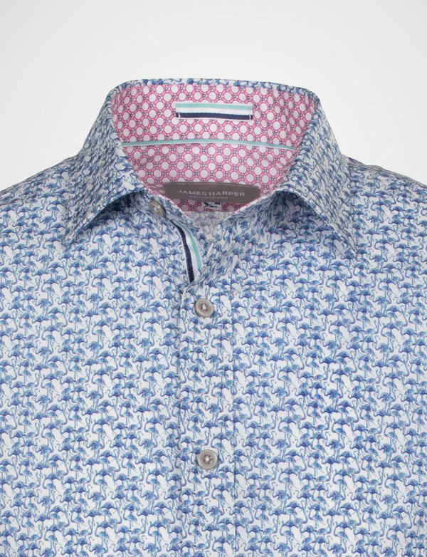 Cliff Small Flamingo Print Shirt