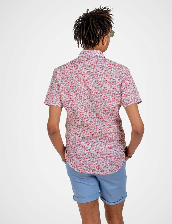 Connelly Large Flamingo Print Shirt (Short Sleeve)