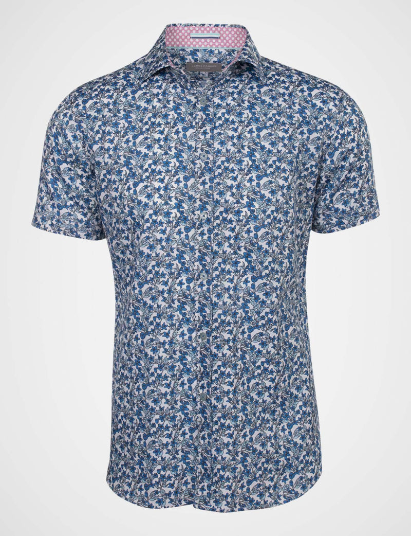 Donald Floral Garden Print Shirt (Short Sleeve)