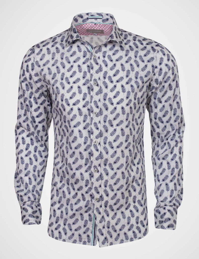Dustan Peacock Feather Print Shirt