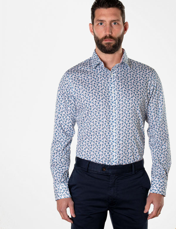 Errol Humming Bird Print Shirt