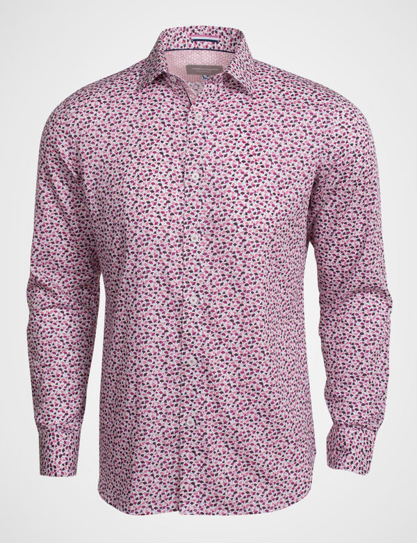 Ewing Floating Leaves Print Shirt