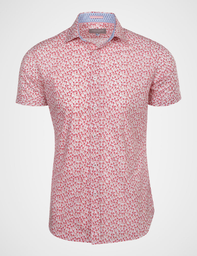 Fallon Crawling Frog Print Shirt (Short Sleeve)