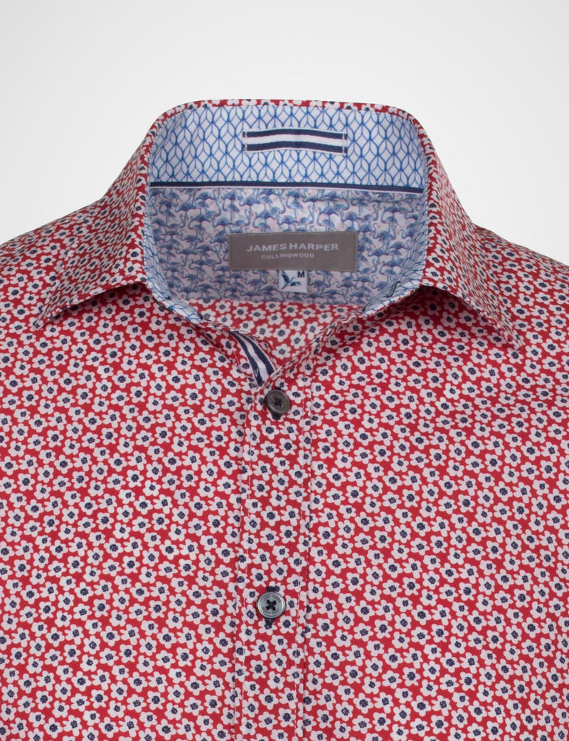 Gregory Small Floral Print Shirt (Short Sleeve)