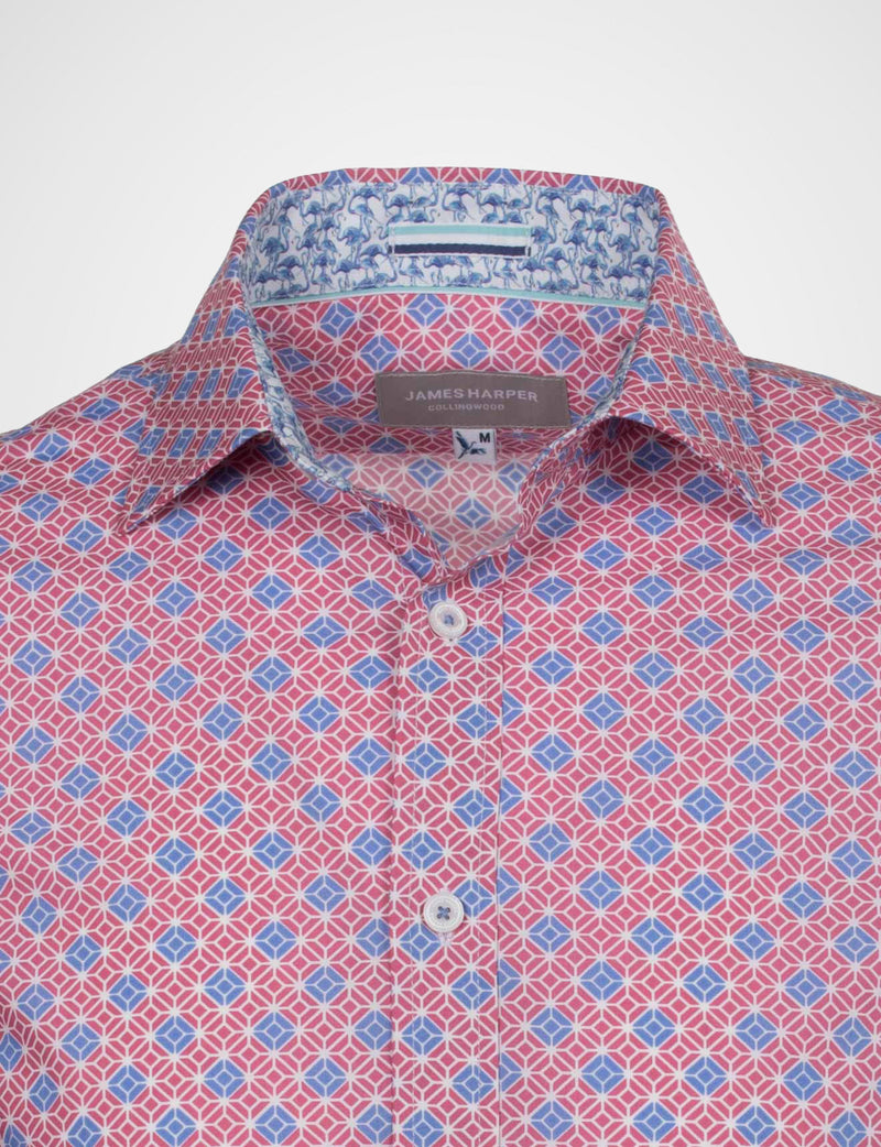 Harvey Square Geo Print Shirt