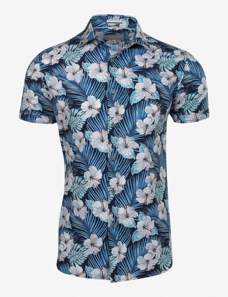 Cassel Hawaii Five 0 Print Shirt (Short Sleeve)