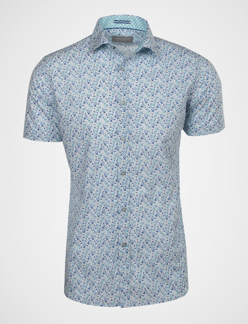 Michael Leunig 'Odd Birds' Short Sleeve Print Shirt (Limited Edition)