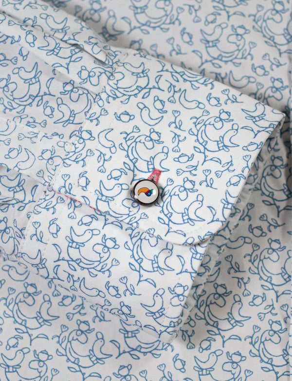 Michael Leunig 'Playful' Creature Long Sleeve Print Shirt (Limited Edition)