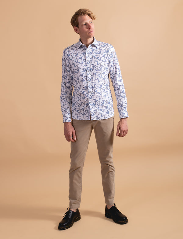 Willow Leaf Print Shirt