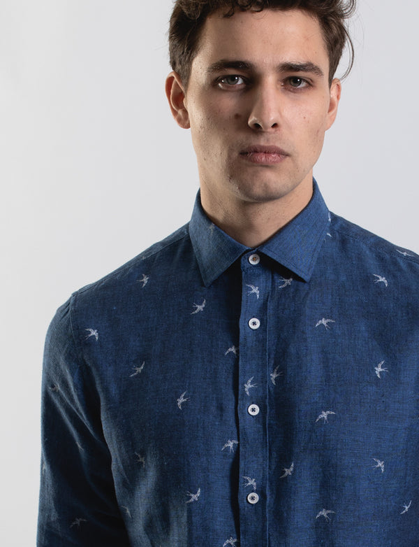 Dancing Birds Print Shirt