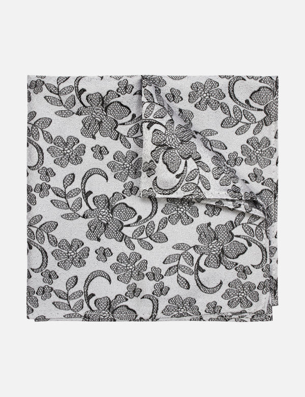 Lace Floral Pocket Square