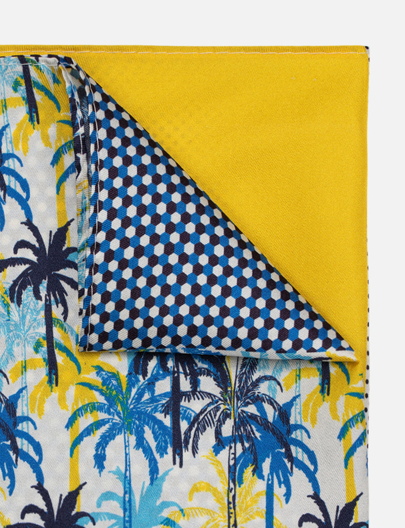 Printed Palm Pocket Square
