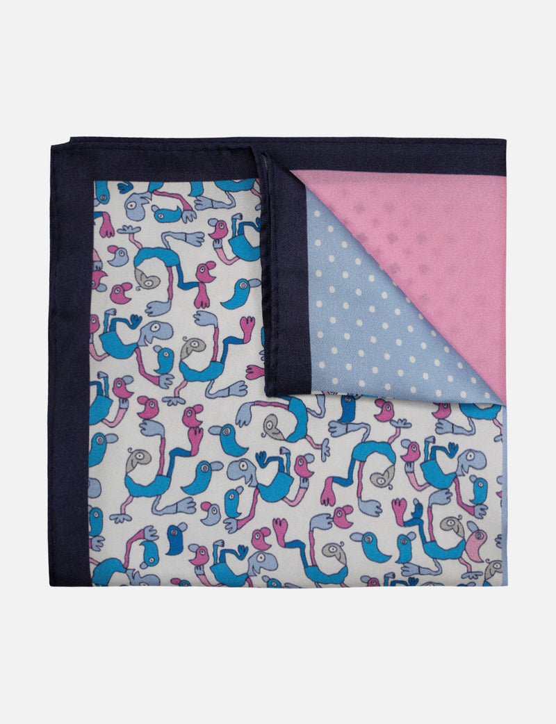 Michael Leunig 'Simple Pleasures' 4 Square Pocket Square (Limited Edition)