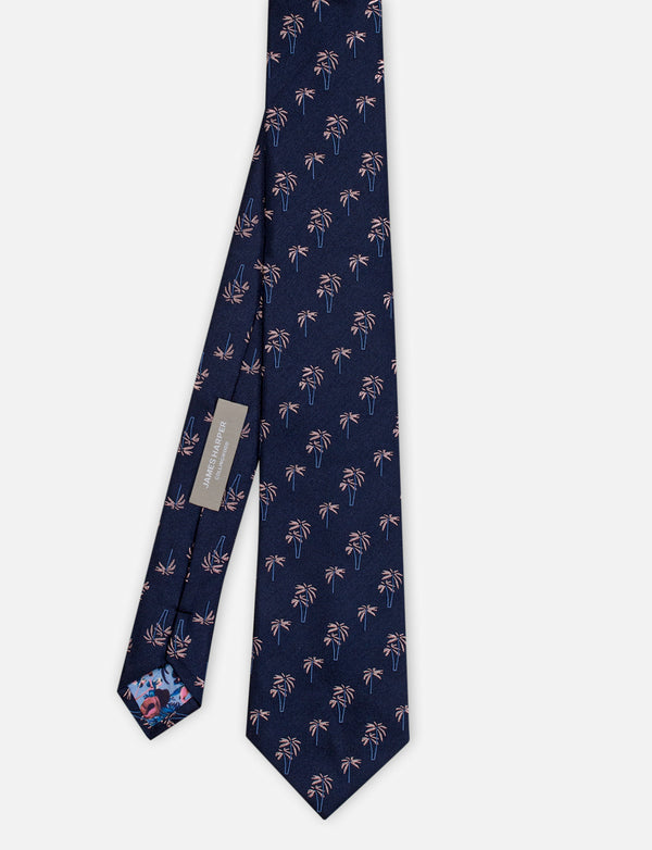 Palm Tree Silk Tie