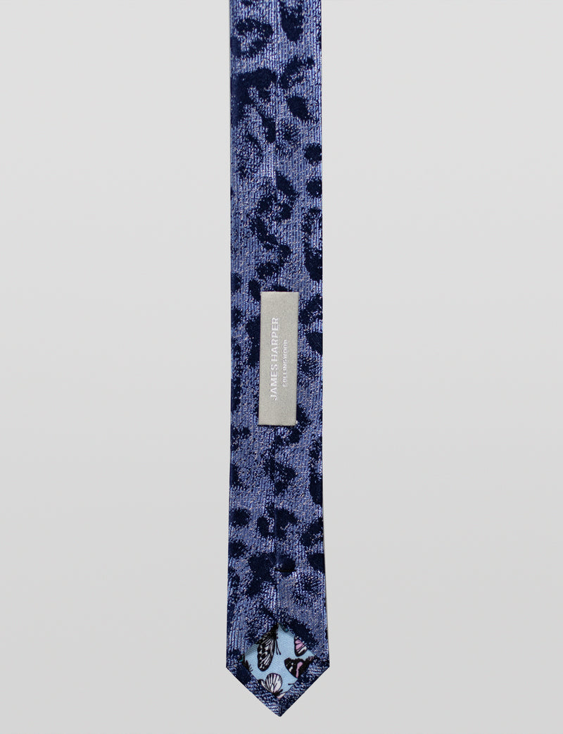Animal Print Silk Tie
