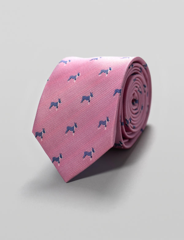 Frenchie Dog Silk Tie