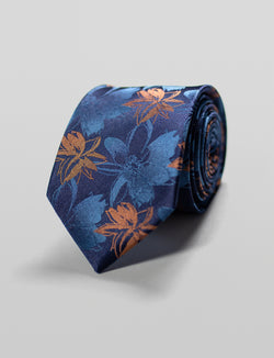 Abstract Floral Silk Tie