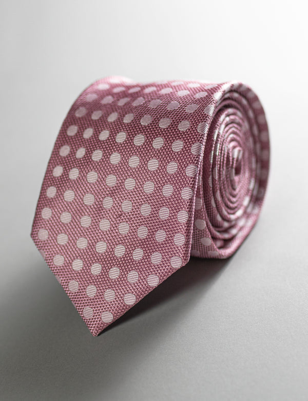 Spot Tie & Floral Pocket Square Set