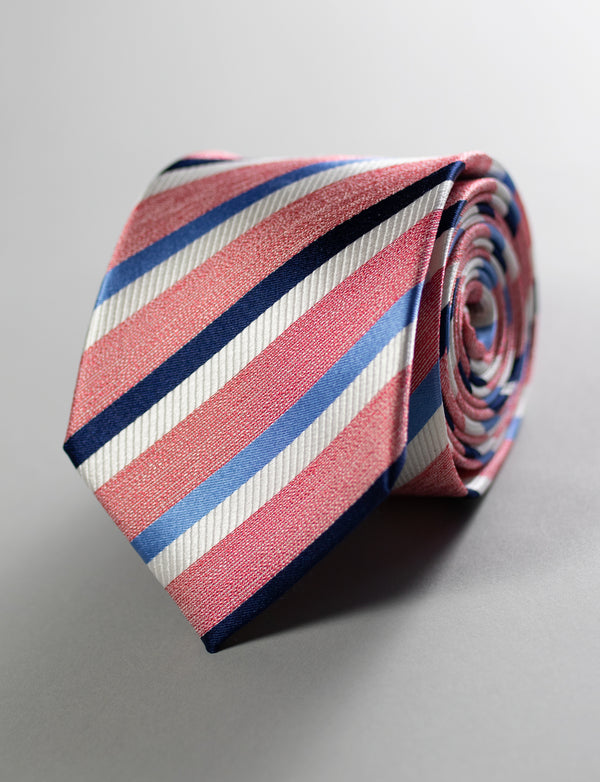 Stripe Tie & Crane Pocket Square Set