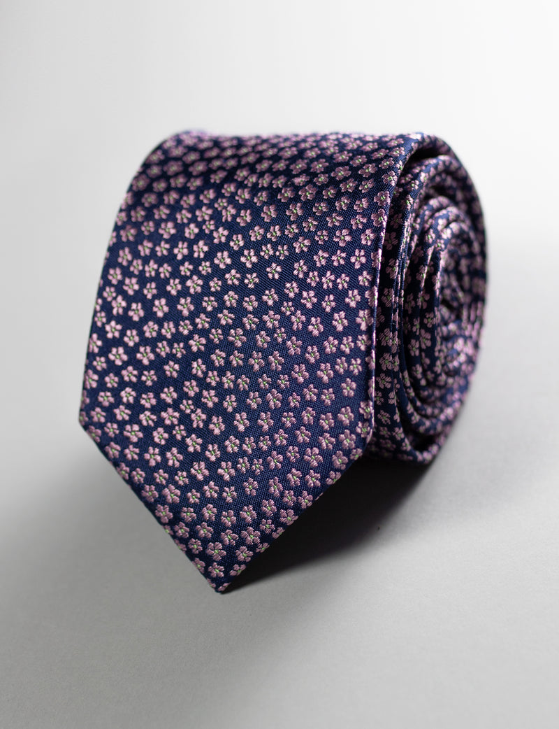 Ditsy Floral Tie & Floral Pocket Square Set