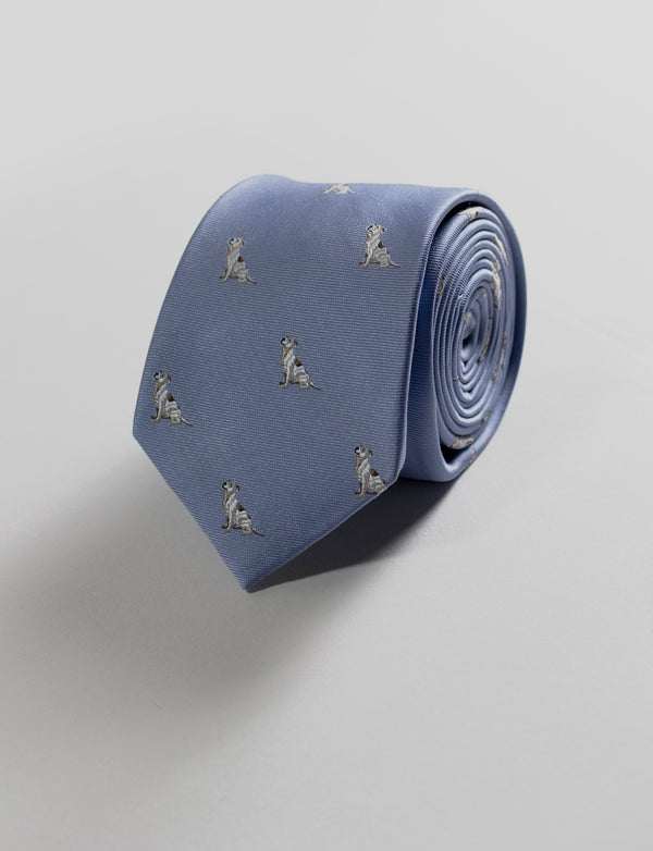 Dog Tie & Paisley Pocket Square Set