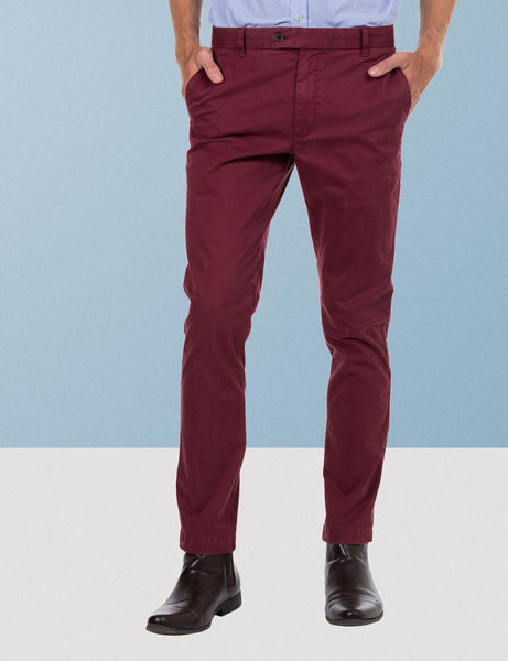 The Burgundy Winter Chino