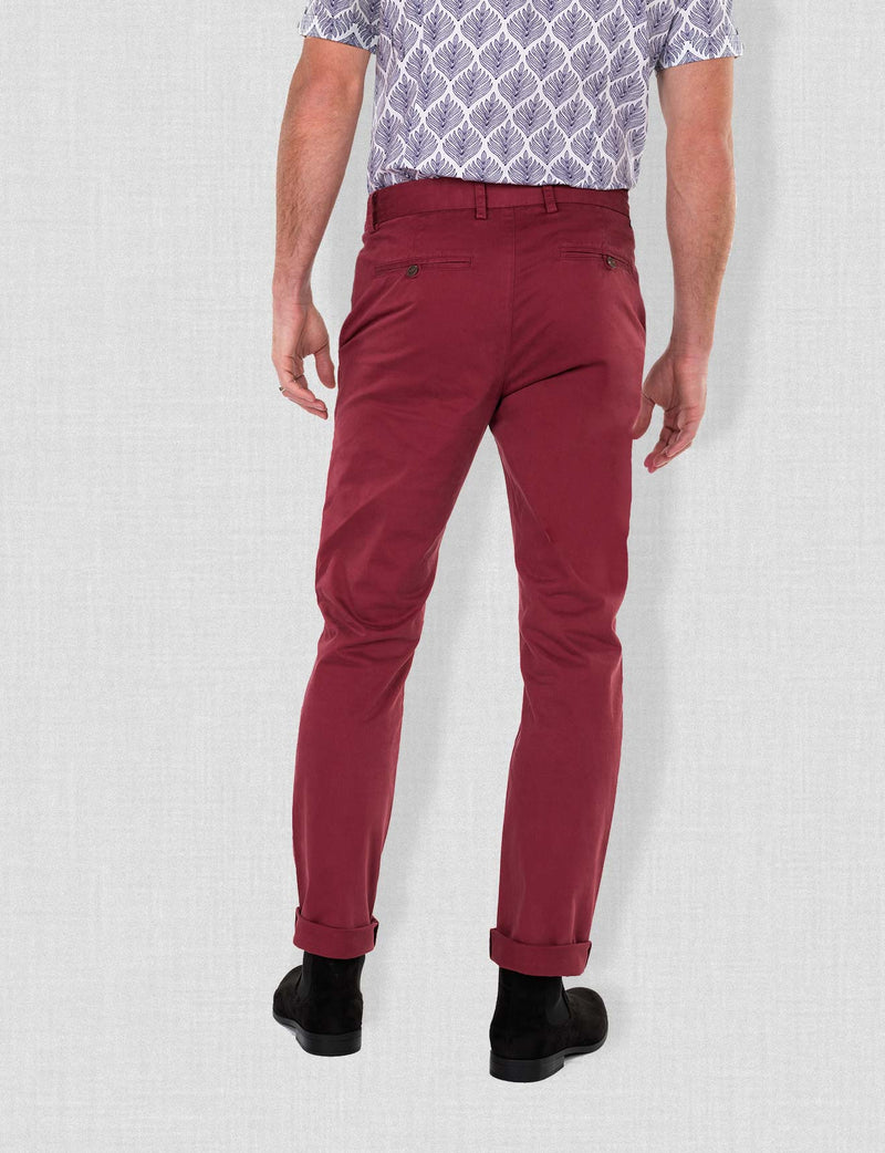 Wine Chino Pants