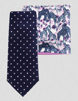 Spot Tie & Pocket Square Set