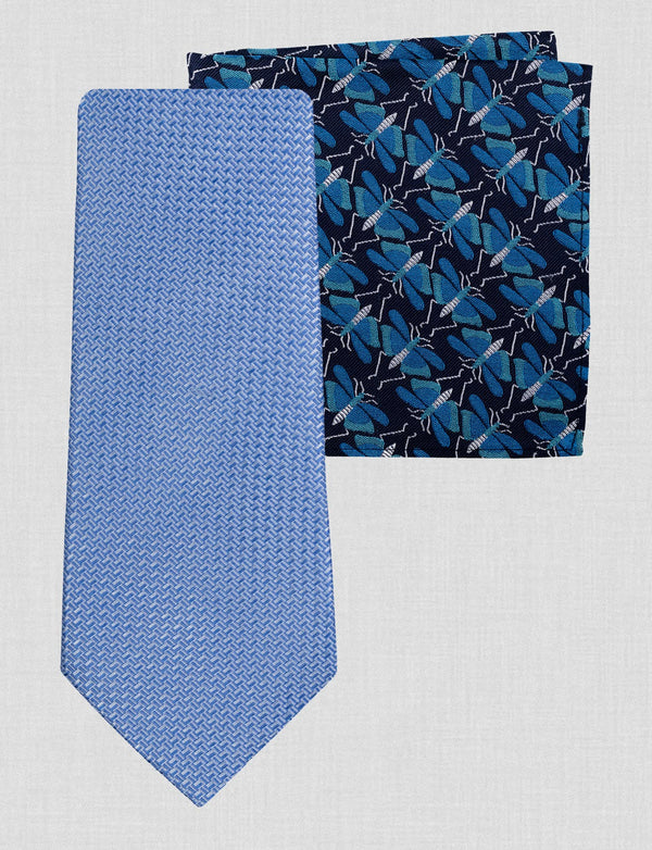 Dragonfly Tie & Pocket Square Set
