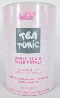 White Tea & Rose Petals - Tube Loose Leaf 75g