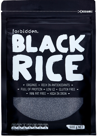 Forbidden Organic Black Rice 500g x 6