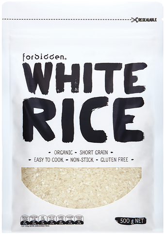 Forbidden Organic White Rice 500g x 6