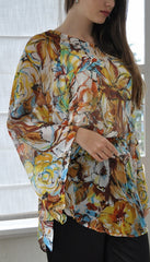 Kaftan Blouse Autumn Leaves