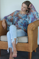 Kaftan Blouse Mermaid Blues