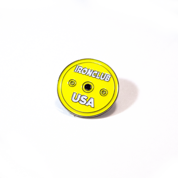 NEW Ironclub Yellow Calibrated Disc Pin