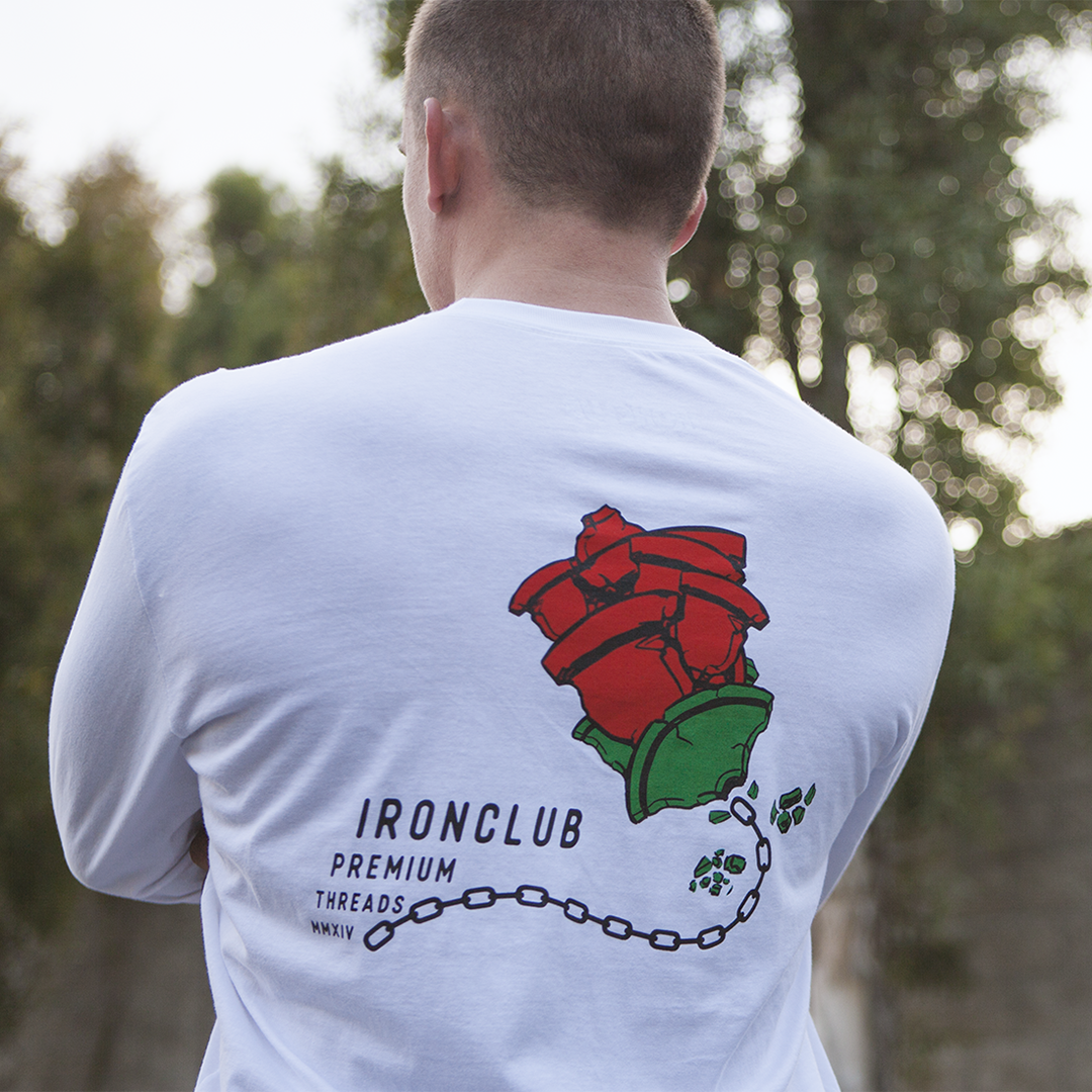 Calibrated Rose White Long Sleeve Tee
