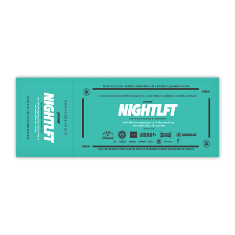 NIGHTLFT Ticket - Anaheim Fit After Party 2016