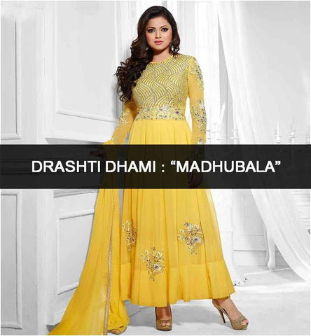 Madhubala Drashti Dhami Anarkali Dresses Salwar Suits Sarees Collection